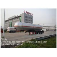 Buy cheap 57500L 3 Axle LPG Semi Trailer / propane gas Tank Truck Trailer from wholesalers