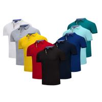 Buy cheap Embroidered  Quick Dry Slim Fit Work Polo Shirts  Cotton Plain Solid Color Classic Design from wholesalers