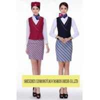 Buy cheap TR Fabric Airline Stewardess Uniforms Dress / Airline Attendant Costume from wholesalers