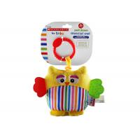 Buy cheap Plush Owl / Fish Teether Safe Infant Baby Toys With Rainbow Coloured Fabrics from wholesalers