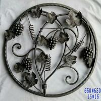 Buy cheap Wrought Iron Elements/cast iron Ornaments/cast iron parts  for balusters and gates decorative -- Cast iron grapes leaves from wholesalers