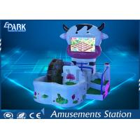 Buy cheap Lovely Cow Design Kids Coin Operated Game Machine 3 Theme Scence from wholesalers