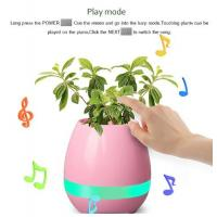 Buy cheap Smart Music Flower Pot bluetooth Intelligent Real Plant Touch Play led light Flowerpot from wholesalers