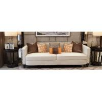 Buy cheap Fashion luxury design of Hotel Lobby furniture reception sofa set made by Leather cushion in Glossy painting legs from wholesalers