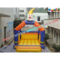 Top quality PVC Clown Commercial Bouncy Castles , Promotional Inflatable Bouncy House for sale