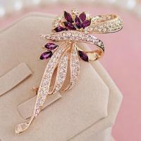 Buy cheap Silver plated brooch, high quality bead brooch, charming zircon brooch from wholesalers