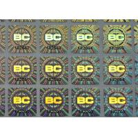 Buy cheap Custom holographic self adhesive destructible label with serial numbers printing from wholesalers