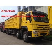 8x4 Heavy Duty Dump Truck EURO II EURO III For Unloading Building Materials