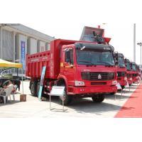 340HP 6 x 4 HOWO Heavy Duty Dump Truck White Yellow and Red EURO III