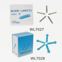 Buy cheap Medical 40G Disposable Twist Sterilized Stainless Blood Lancet For Skin Clinical WL7027,WL7028 from wholesalers