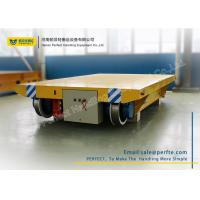 Buy cheap Cable Powered Rail Transfer Cart Wagon Anti - High Temperature With Flat Bed from wholesalers