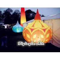 Buy cheap Big Rain Shape Printing Inflatable Light Cone with Light for Shop and Event Decoration product