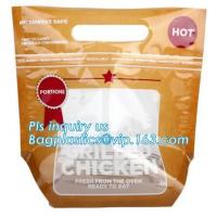 Buy cheap Plastic ziplock bag for chicken packing/microwaveable chicken bags/anti-fog plastic, Roast chicken package bag from wholesalers