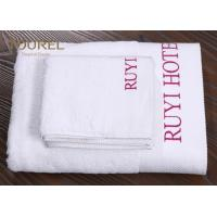 Buy cheap 100% Cotton Jacquard Hotel Bath Towel With Printed LOGO from wholesalers