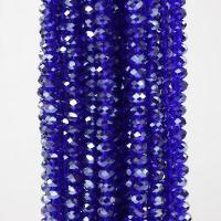 """Buy cheap 8x5mm Dark Blue Crystal Gemstone Faceted Rondelle Loose Beads 16"""" product"""