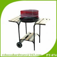 Buy cheap Charcoal bbq grill 18 inch trolly round barbecue grill with side table easy assembly from wholesalers