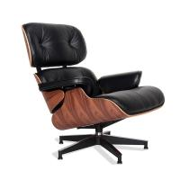 Buy cheap Home Office Furniture Wooden Chair Living Room Leather Lounge Chair with Ottoman from wholesalers