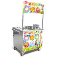 China Silver model stainless steel gas cotton candy machine with wheels on sale