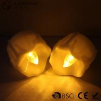 Buy cheap Yellow Flickering Timing Flameless LED Tea Light Candles with Timer from wholesalers