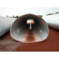Buy cheap 3.7*2.44m corrugated metal culvert pipe pipe-arch section from wholesalers
