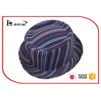 Buy cheap Stripe Style Fedora Ladies Trilby Hats National Flavor Without Band from wholesalers
