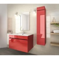 Buy cheap 80 Inch Red Single Bathroom Vanity , Good Stability Bathroom Vanity With Sink product