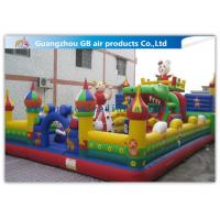 Buy cheap Big PVC Inflatable Fun City With Dolls , Cartoon Inflatable Play Park For Kids from wholesalers