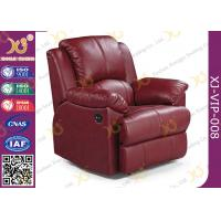 Buy cheap Real Leather Cinema Recliner Chair ,  Home Theater Sofa With Food Tablet from wholesalers