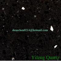 Buy cheap YF1805 Crystal Black Artificial Quartz Stone Surface from wholesalers