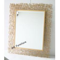 Buy cheap Rectangular Metal Mirror Wall Decor 70 * 95cm Size Quickly Delivery from wholesalers