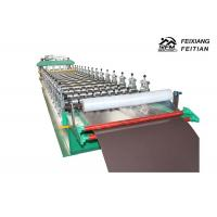 Buy cheap Trapezoidal Tile Roof Panel Glazed Tile Roll Forming Machine With Lamination ISO Approved from wholesalers
