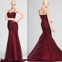 Buy cheap Classic Long Strapless Prom Dresses , Mermaid Pleated Evening Dress from wholesalers