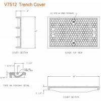 China OEM Design Hardware Tools 39 W x 24 L x 2 1/2 D Ductile Iron Cast Solid Trench Drain Cover Make In China on sale