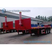 Buy cheap 40 Ft  Container Flatbed Dump Heavy Duty Flatbed Trailer 3 Axles 50T from wholesalers