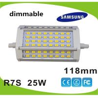 Buy cheap Dimmable 25W 118mm led R7S lamp Samsung SMD5630 LED source replace 250w halogen lamp AC85-265V from wholesalers