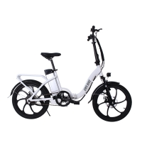Buy cheap 36V Rear Drive 20 inch folding portable electric bike fat tire curving beam ebike from wholesalers