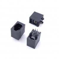Quality Plastic Top Inlet 5224 Vertical 4P4C RJ11 Female Connector For Telephone for sale