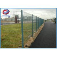 Buy cheap Easy Installation Pvc Coated Welded Wire Mesh Fence With Rectangle Post from wholesalers