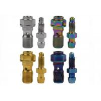 Buy cheap M3 M4 M10 Titanium Fasteners Banjo Bolt With Bleeder Valve DIN GB ASME from wholesalers