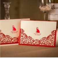 Buy cheap Red laser cut wedding invitation with envelope, Lucky Love Wedding Card, Wedding Favor Gifts for Party from wholesalers