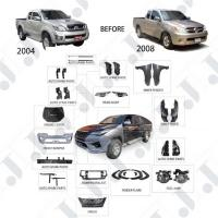 Buy cheap Toyota Hilux Vigo Parts 04 12 Convert To Hilux Rocco 4x4 Facelift Body Kits from wholesalers