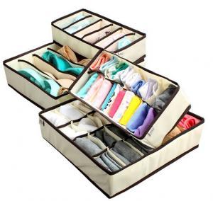 China MIU COLORCollapsible Storage Boxes Bra Underwear Closet Organizer Drawer Divider 4 set, on sale