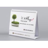 Foldable Desk Calendar With Stand , Gloss Lamination Decorative Desk Calendar