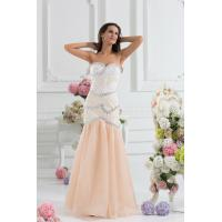 Buy cheap High End Mermaid Chiffon Womens Party Dresses With Beads , Champagne from wholesalers