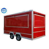 Buy cheap Towable Square Food Cart Trailer Outdoor Retail Kiosk Customized Available from wholesalers