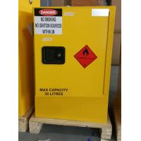 Buy cheap 30L Australian Standard Flammable Chemical Storage yellow steel Cabinet from wholesalers