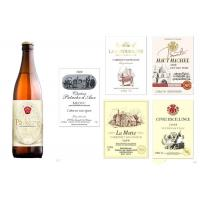 Champagne Personalized Wine Sticker Labels 750ml Gold / Rose / Silver Pewter