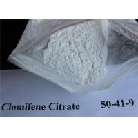 Buy cheap CAS 50-41-9 Clomid / Clomiphene Citrate Powder , Raw Steroid Powders from wholesalers
