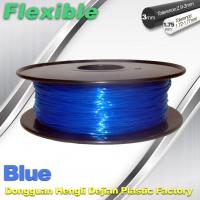 Buy cheap High Soft TPU Rubber 3D Printer Filament 1.75mm / 3.0Mm In Blue product