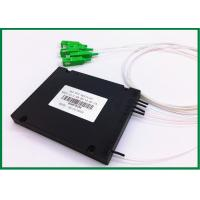 Buy cheap 1 x 4 Fiber Optic PLC Splitter , single mode fiber splitter with SC / APC connector from wholesalers